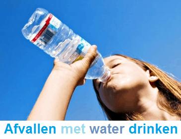 ijskoud water drinken afvallen